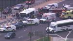 По крайней мере 14 человек получили ранения в аварии в аэропорту О'Хара