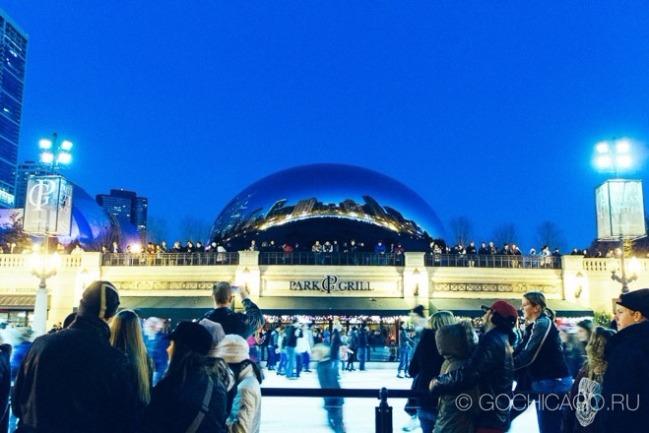 Каток в Чикаго, США