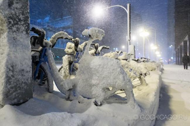 Снежный шторм в Чикаго 1 февраля 2015