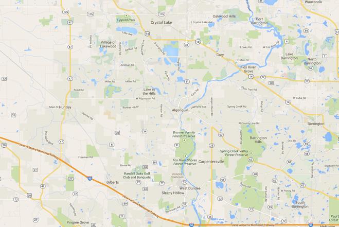 Землетрясение в северо-западных пригородах Чикаго